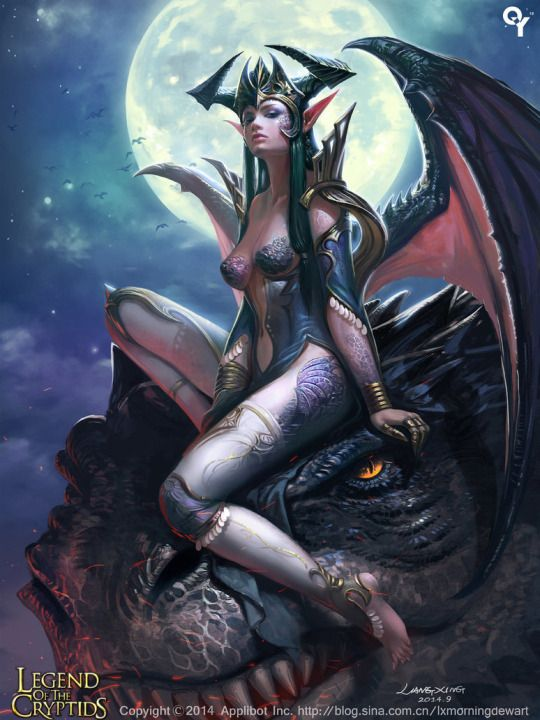 Erotic fantasy art dragons