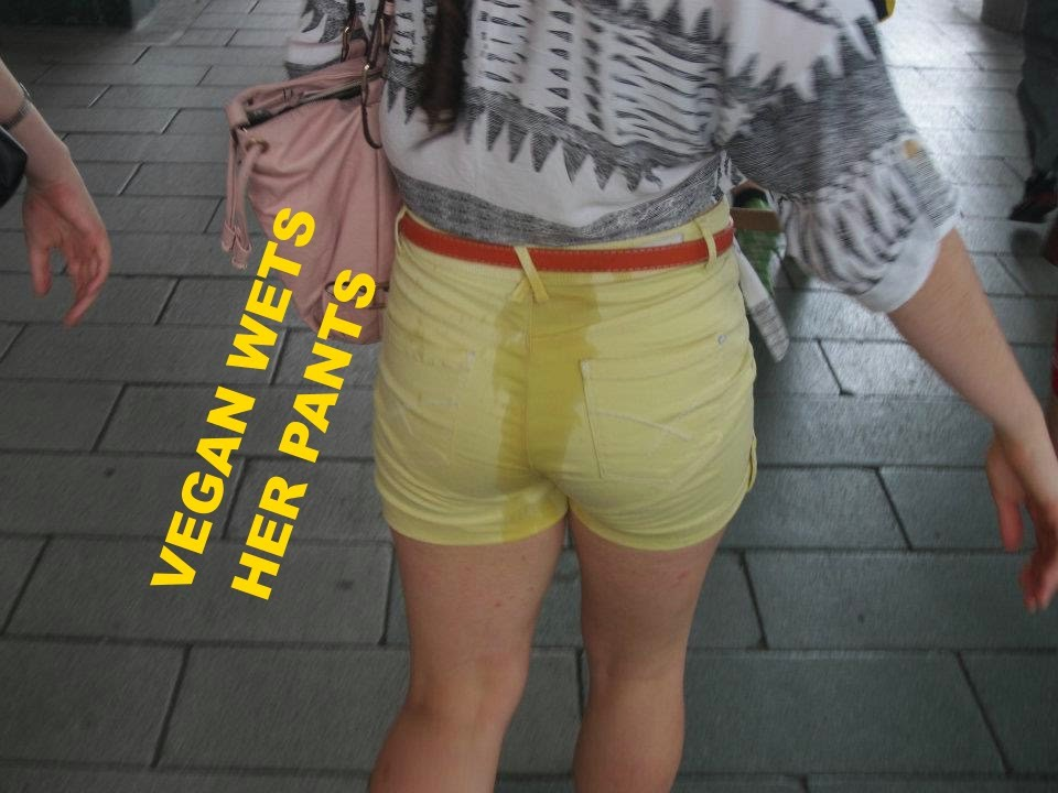 Girl bed wets her pants