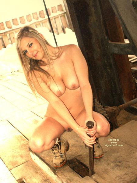 Amateur naked at work