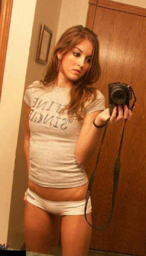 Young teen girl self shot jb