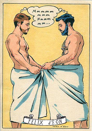 Vintage gay sex cartoons