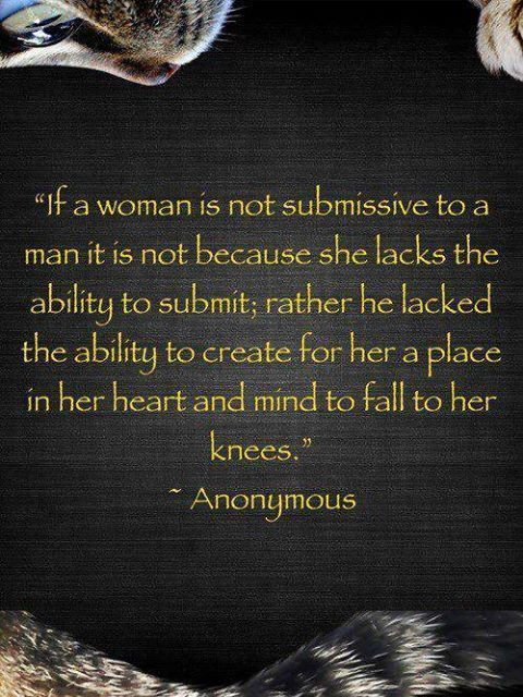 Dominant man submissive woman quotes