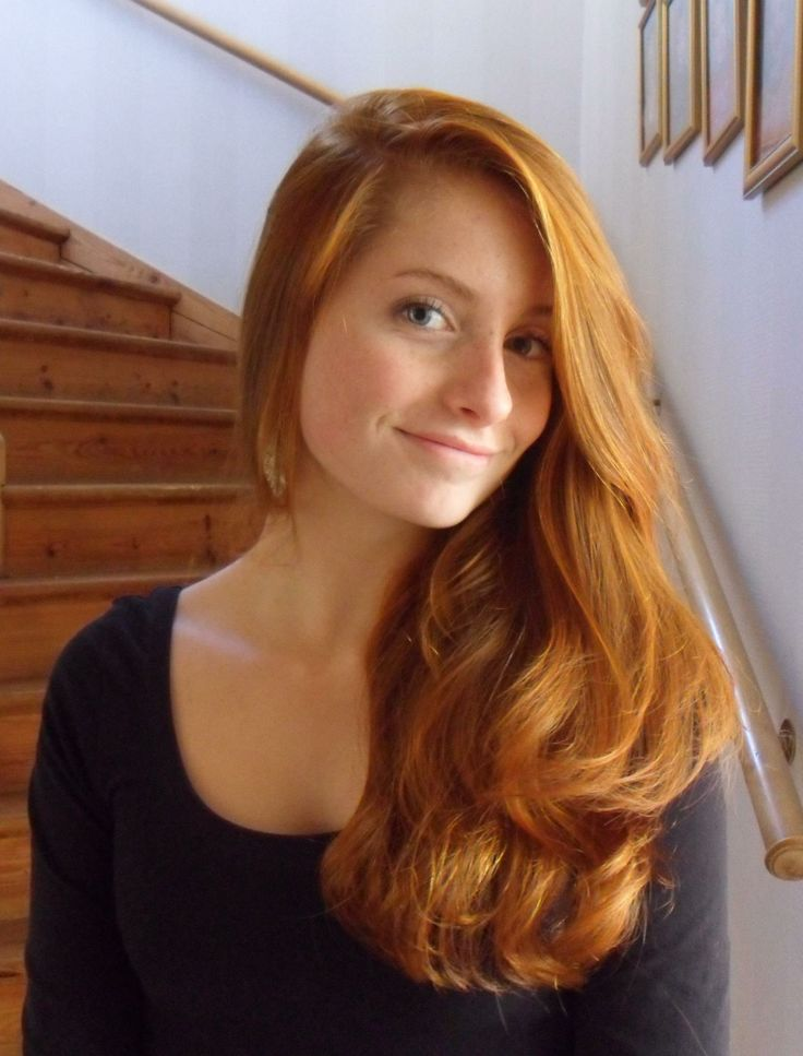 Busty redhead milf long hair