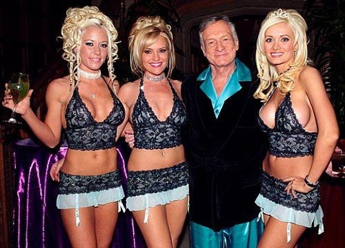 Hugh hefner with playboy girls