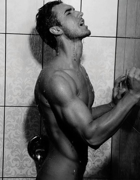 Hot male models shower