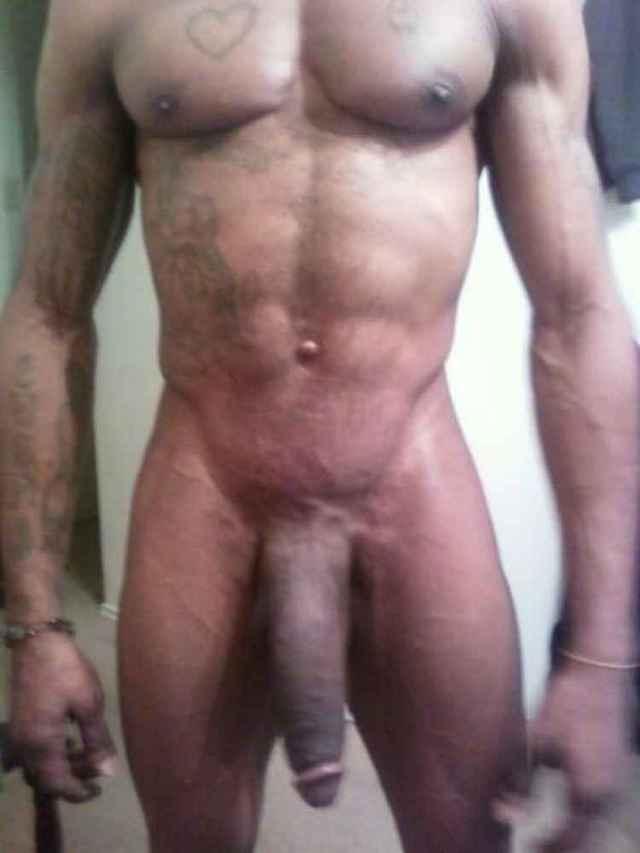 Hung black man cock