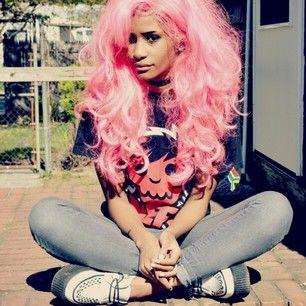Black teen dyed hair