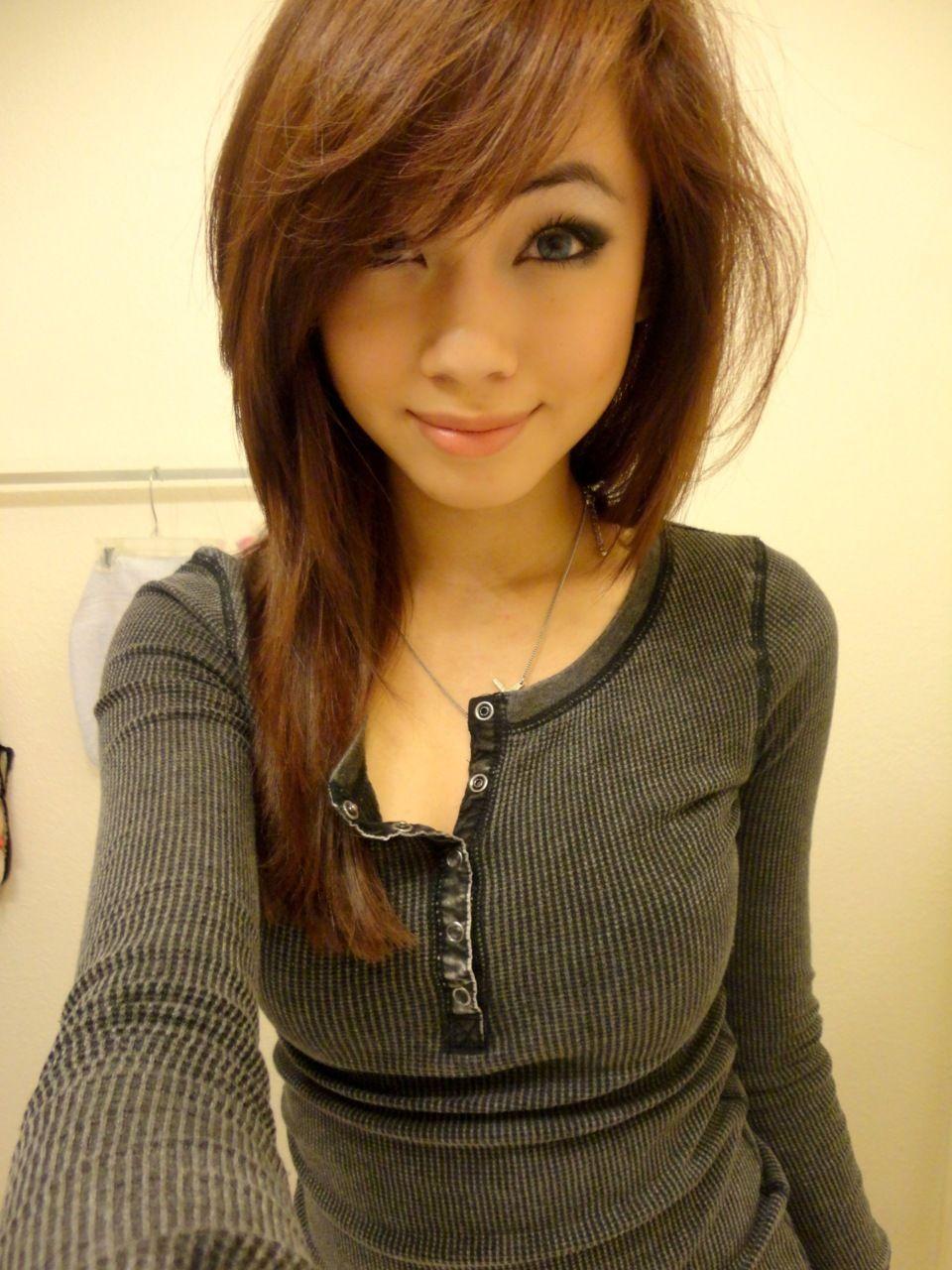 teen cute girls selfies young Asian