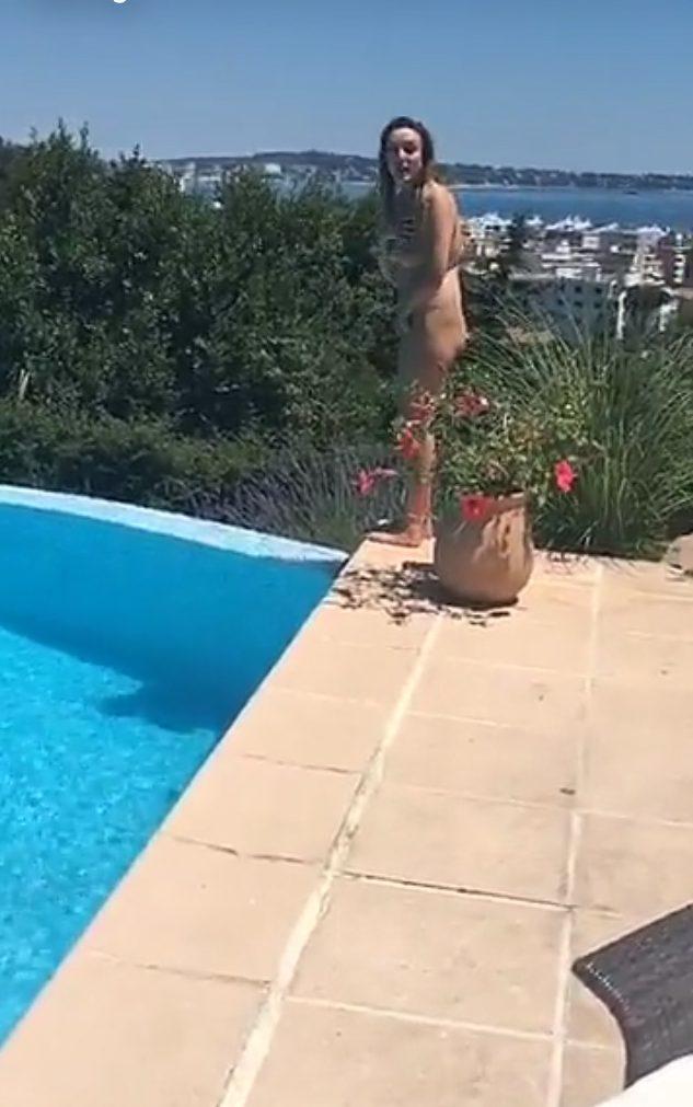 Skinny girls caught naked
