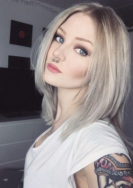 pierced fake tattoo Blonde