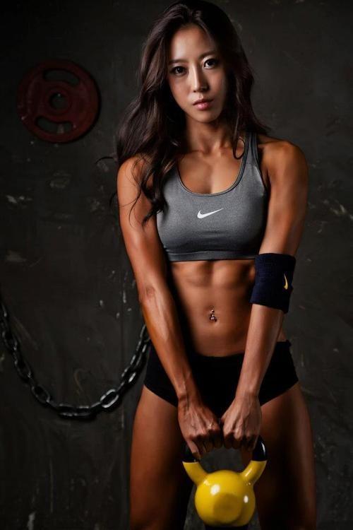 Hot athletic asian girl