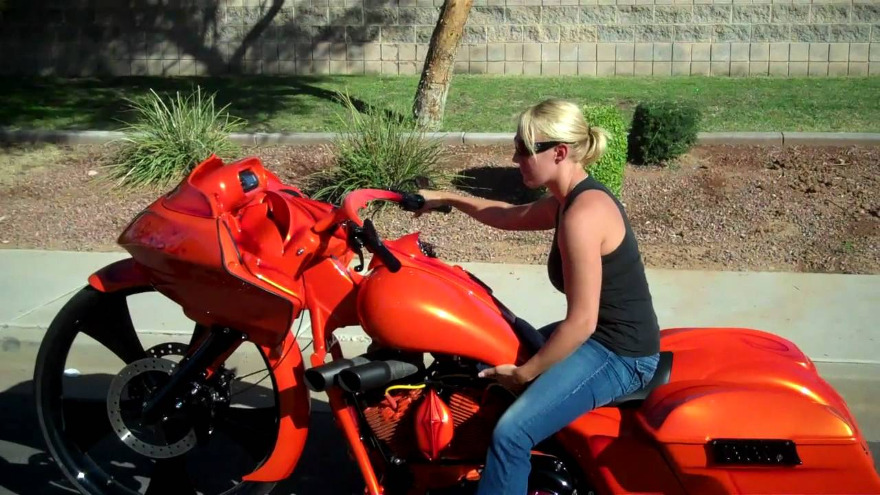Dirty girls on motorcycles