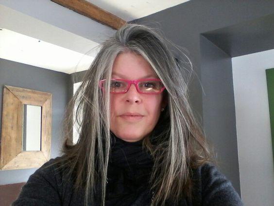 Grey hair granny