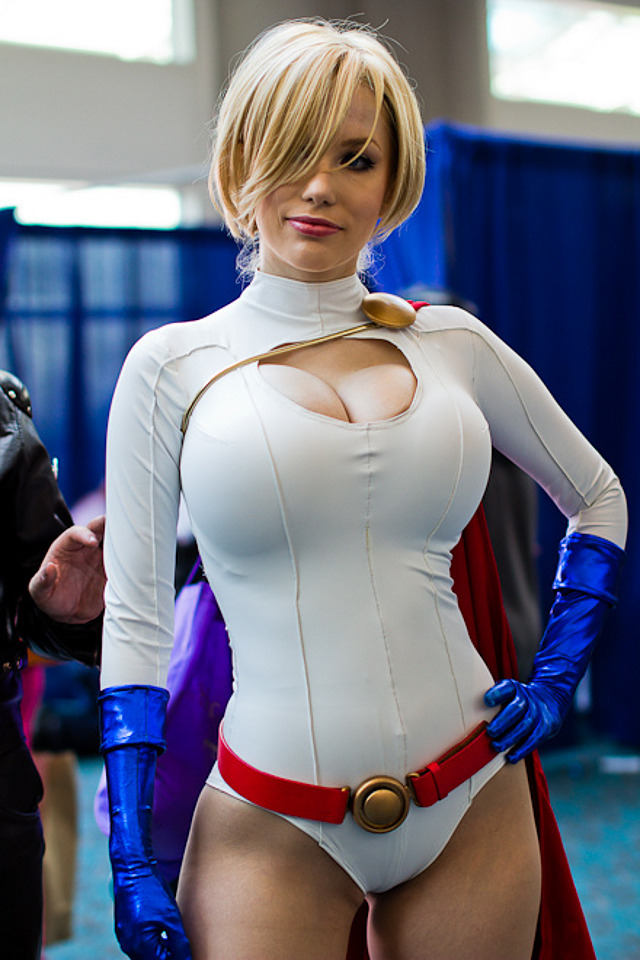 Sexy power girl cosplay