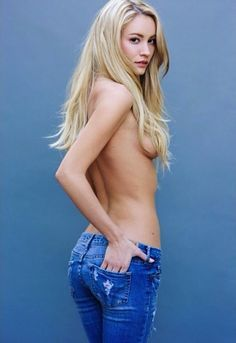 Sexy girls tight jeans topless