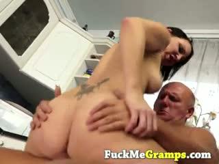 Dirty old men fuck girl