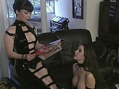 bondage latex Forced pet lesbian