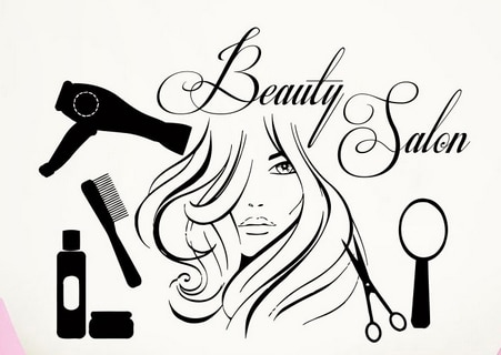 Sexy girls hair salon