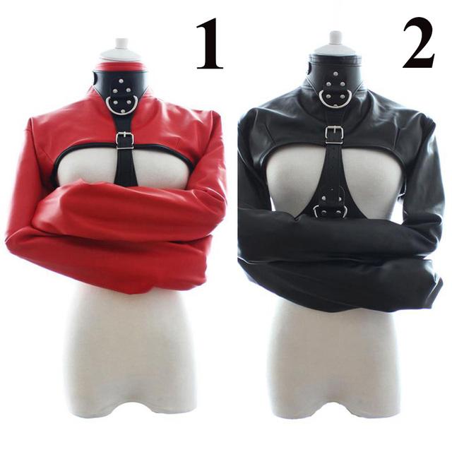 Gay leather straitjacket bondage