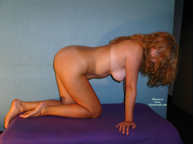 fours on pussy Naked redhead all