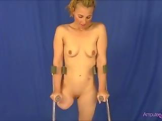 Amputee woman nude