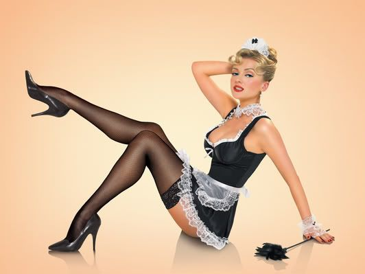 French maid pin up girls
