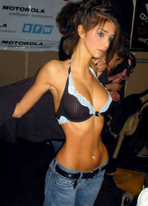 girls piercing Nude with belly button