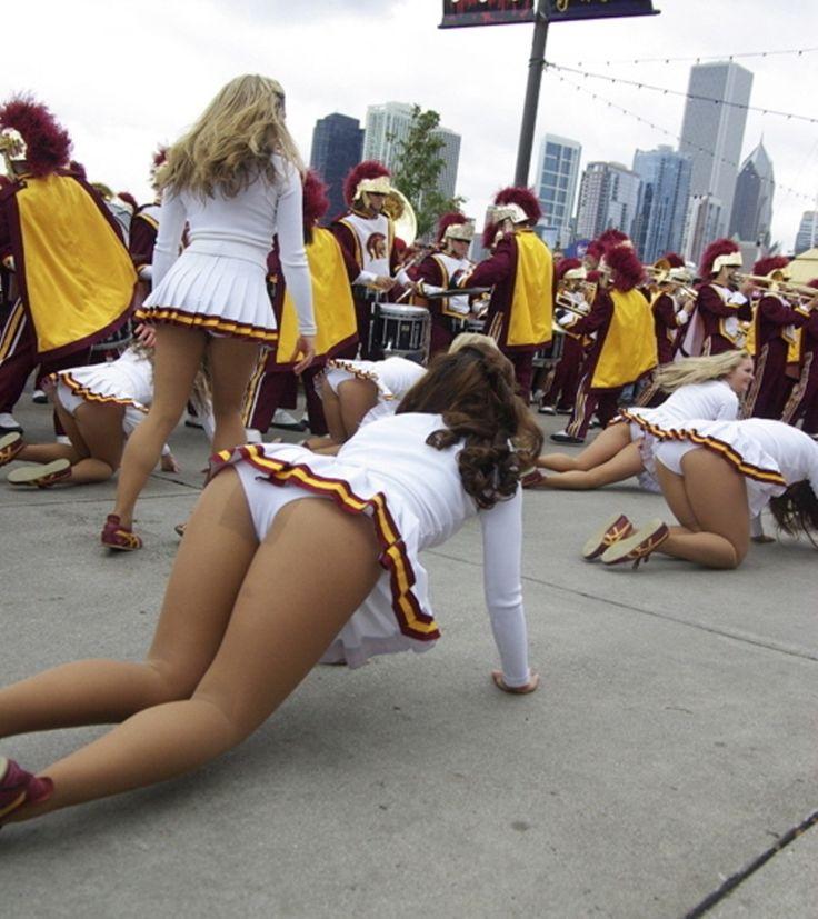 panty shots Cheerleader crotch