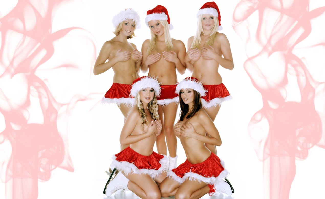 sexy wallpaper hot christmas girls Merry