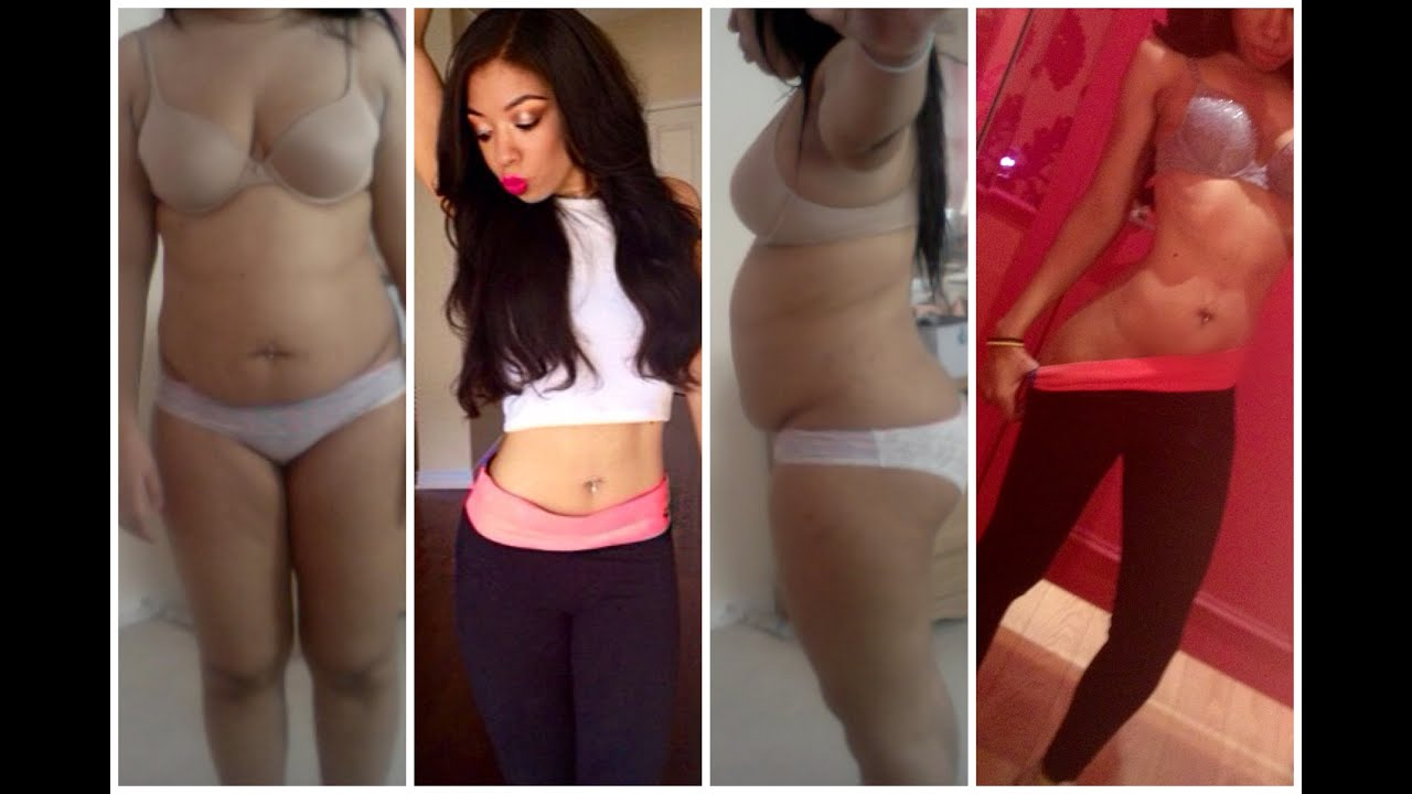 Teen girl belly bloated with period