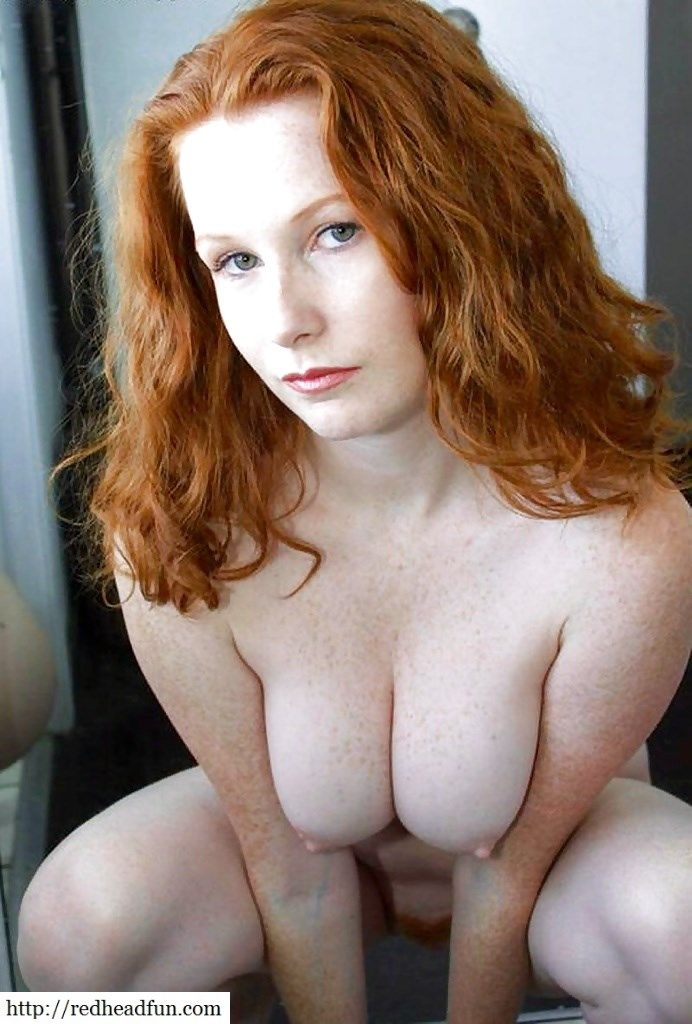 Redhead with freckle tits