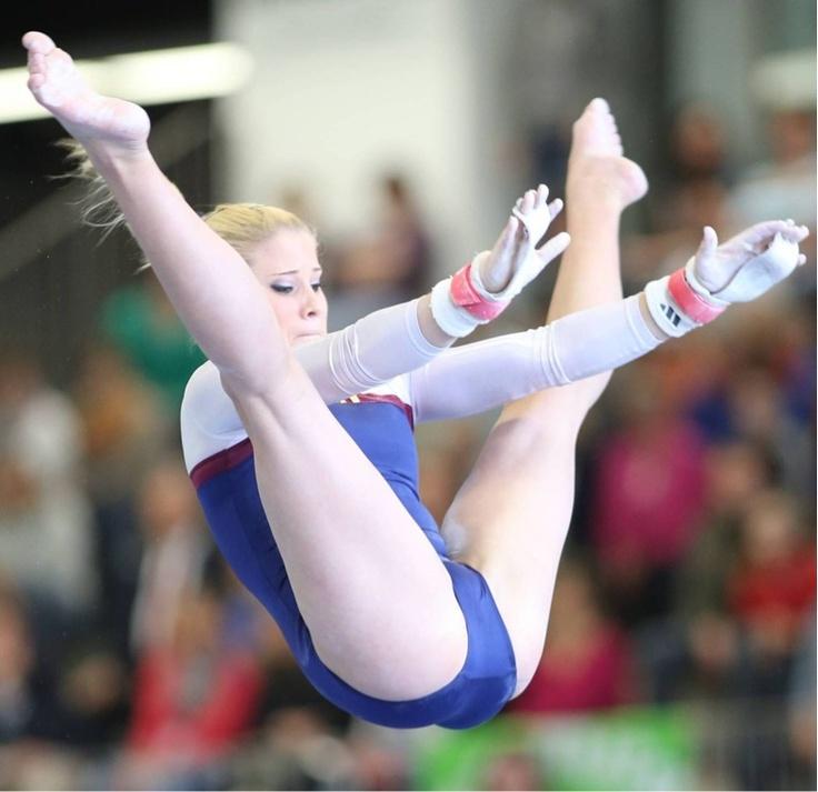 Gymnast crotch close view