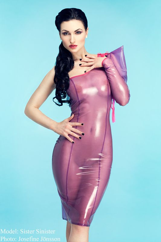 Latex fashion model