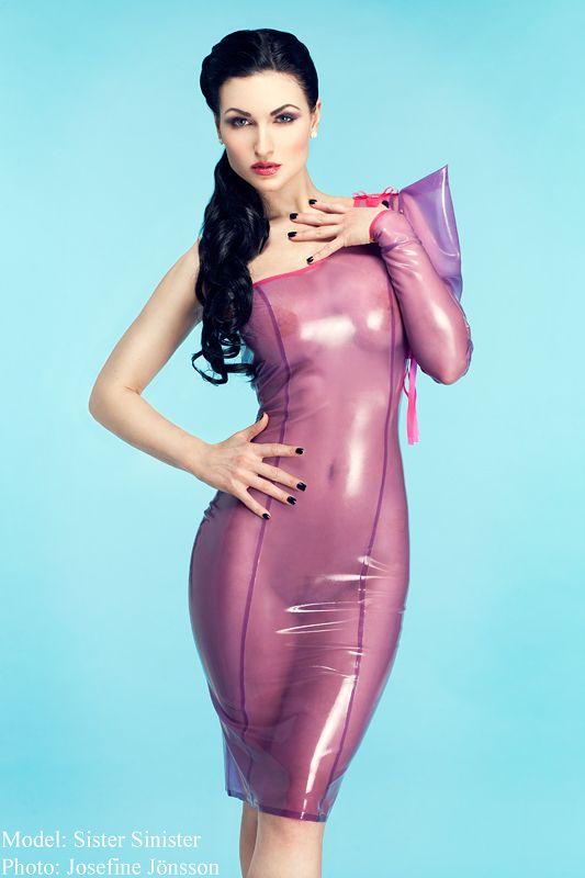 Latex fashion model