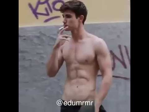 Naked gay hunks smoking