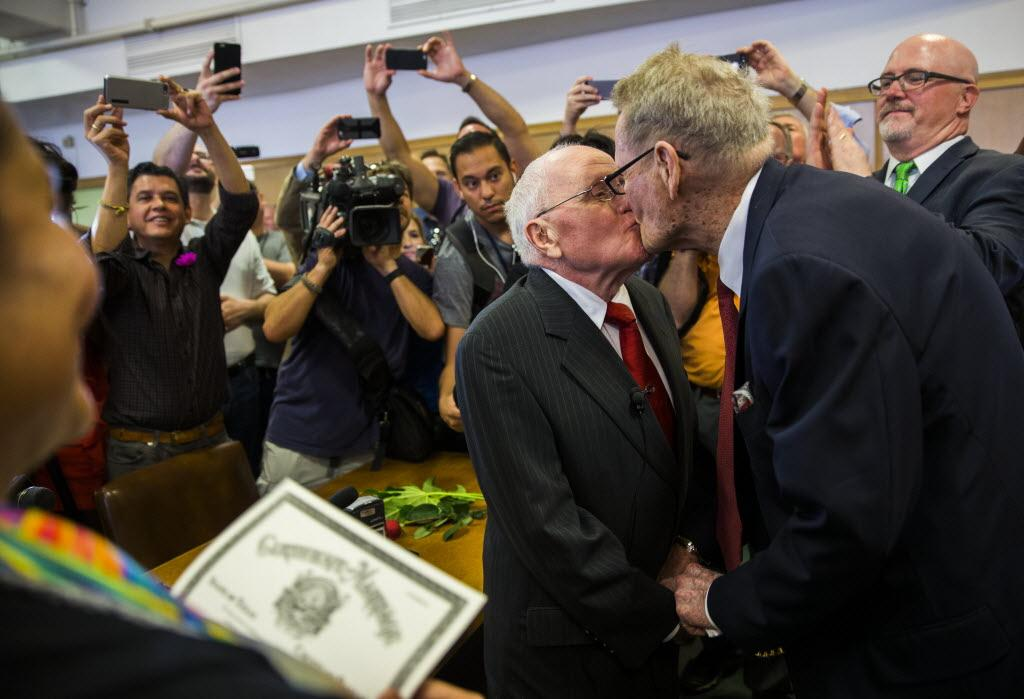 First gay couple married