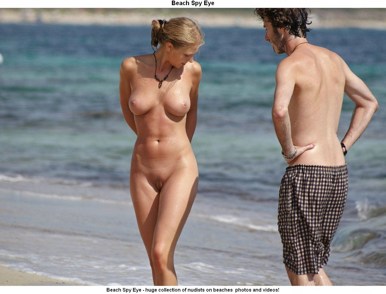 Beach girl hidden naked