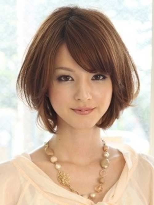 Sexy brunette short hair asian