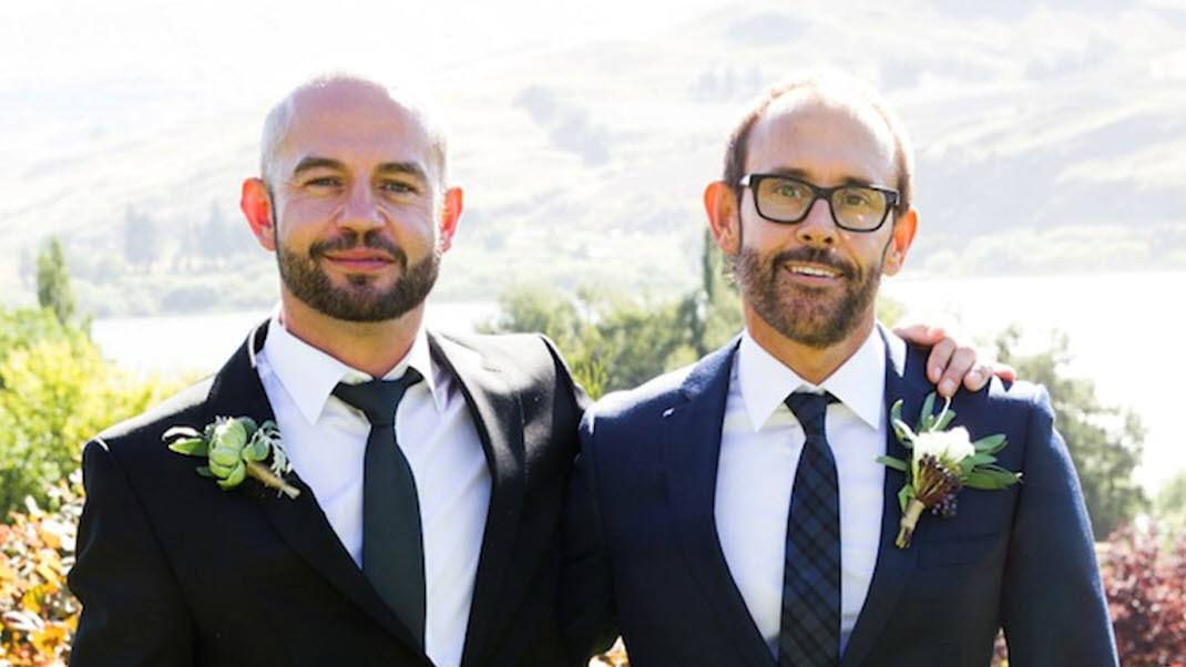 couple First married gay