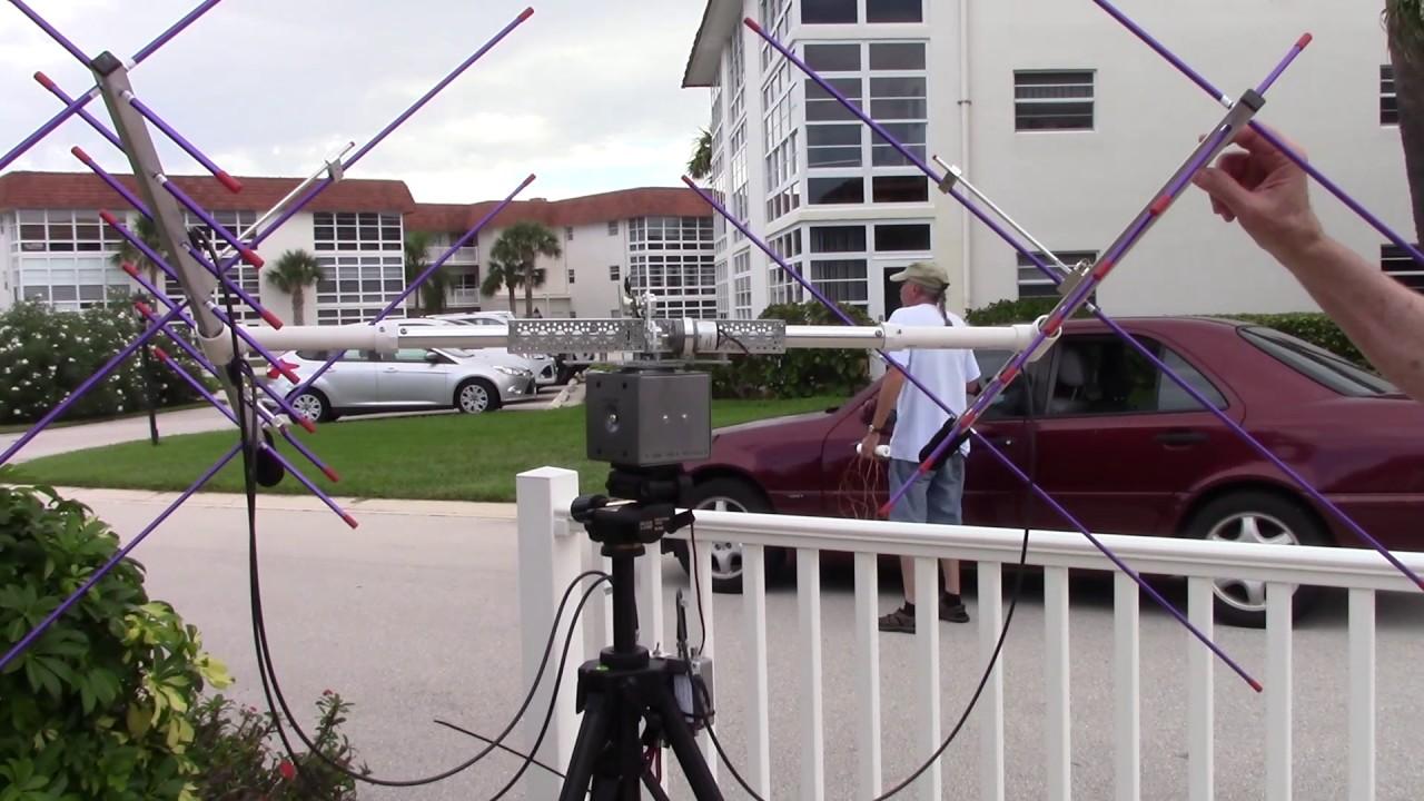 Ham radio satellite tracking antenna