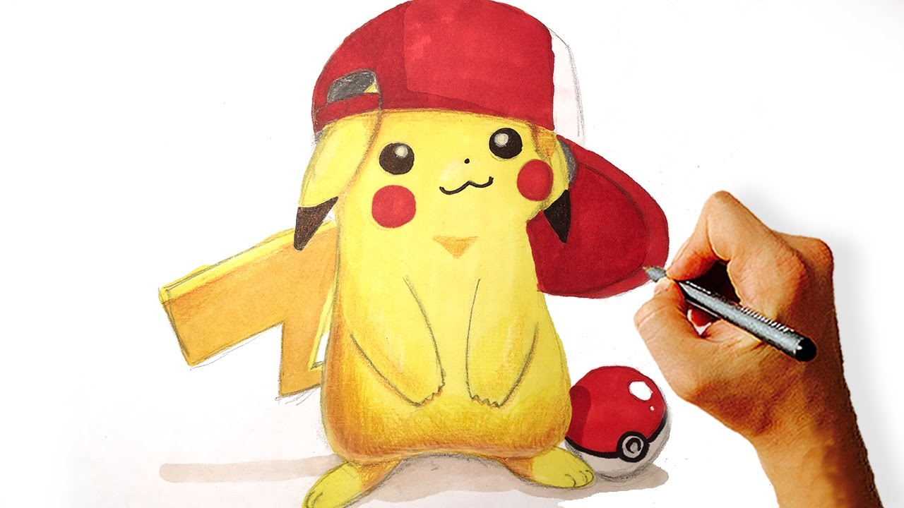 Pokemon pikachu with hat