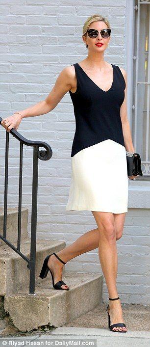 Black and white dress high heels