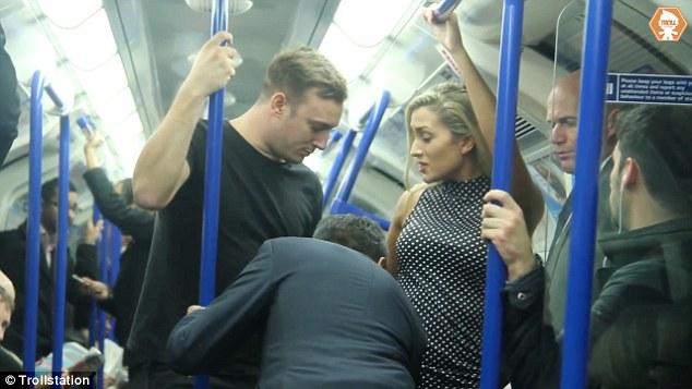 men trains groping Women