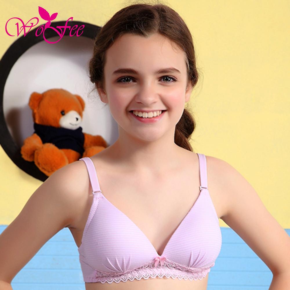 Young teen girl bra