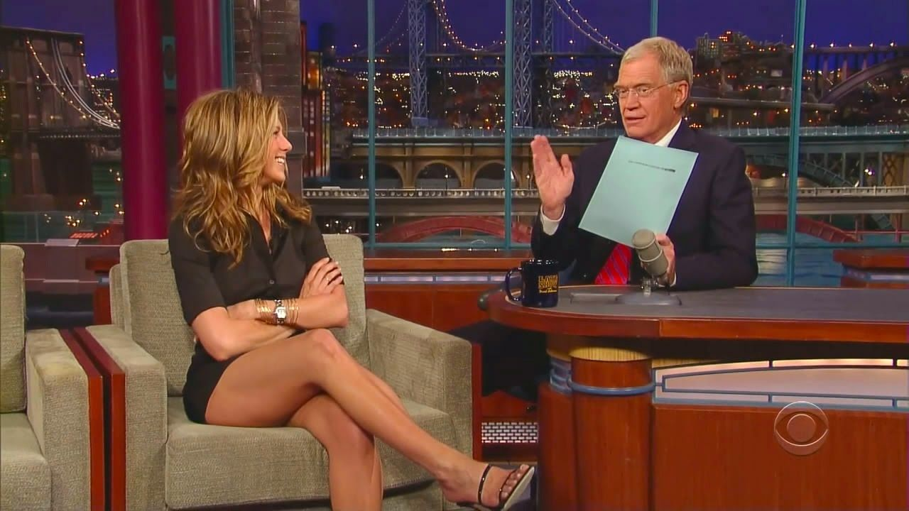 Jennifer aniston on david letterman