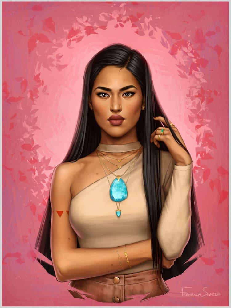 real life disney princesses Pocahontas