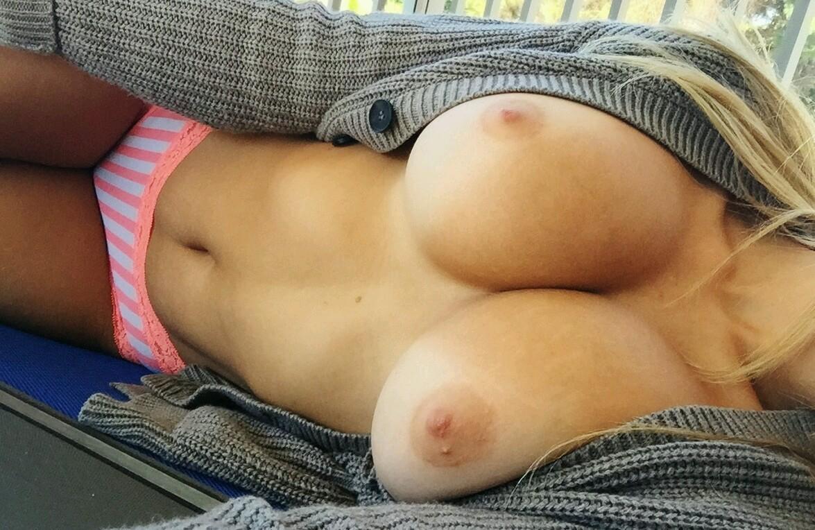 Big tits laying down