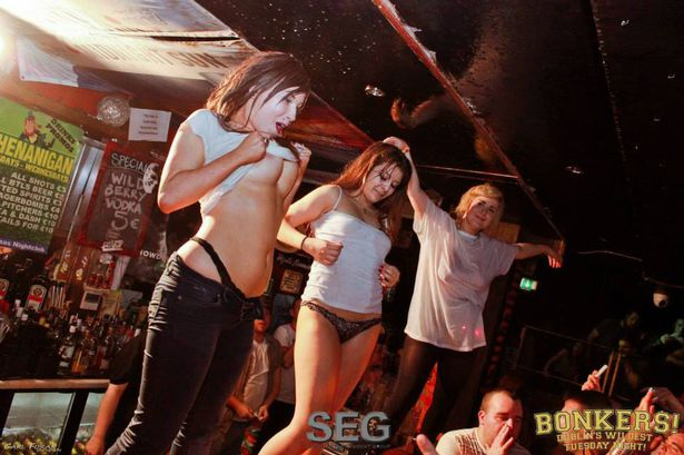 Club wet t shirt contest
