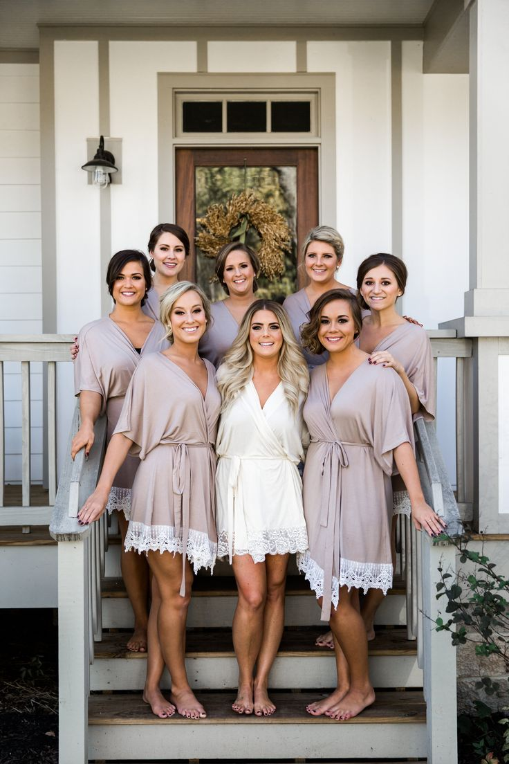 for Nude bride getting wedding dressed