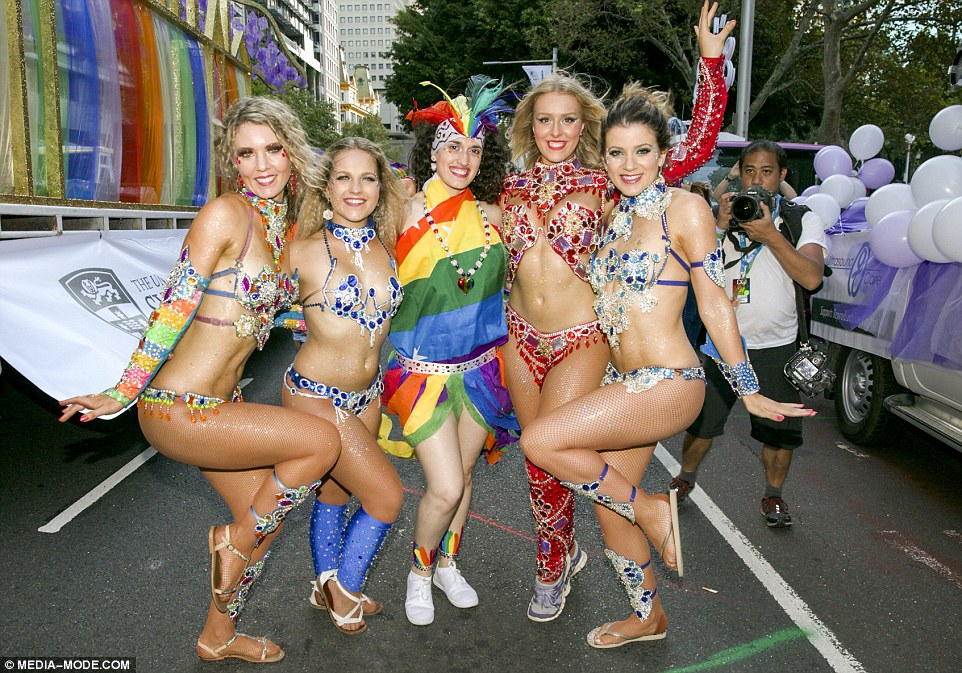 Mardi gras nude women